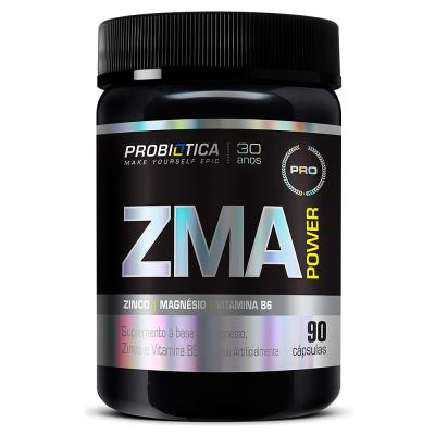 ZMA Power 90 Caps Zinco Magnésio Probiótica