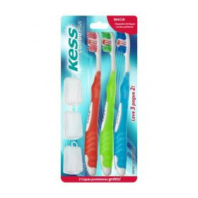 Escova Dental Kess Combo Plus Macia Leve 3 Pague 2
